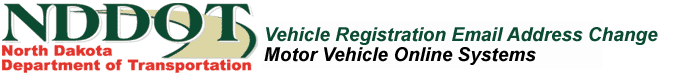 Vehicle Registration Email Address Change
